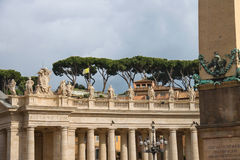 Statues on the Colonnade of St. Peter's Basilica. Vatican City, Royalty Free Stock Photos