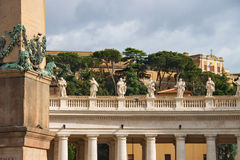 Statues on the Colonnade of St. Peter's Basilica. Vatican City Stock Image