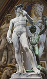 STATUES. Compilation of statues in Florence Italy Stock Photography