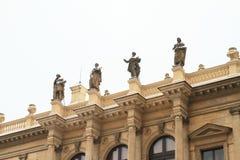 Statues on Concert hall Rudolfinum Royalty Free Stock Image