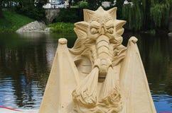 Statues construites du sable image libre de droits