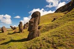 Statues d'île de Pâques Photographie stock