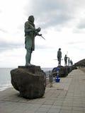 Statues d'Indiens de Guanches situées à Plaza de la Patrona De Canarias à Candelária, Ténérife, île canarienne, Espagne Images libres de droits