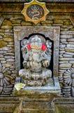 Statues d'un dieu d'éléphant avec pour le culte chez Bali Images libres de droits