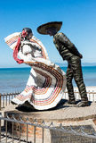 Statues of Dancers. Statue of Mexican Dancers on the Malecon in Puerta Vallarta Royalty Free Stock Photography