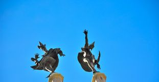 Statues of dancing figures Stock Photography