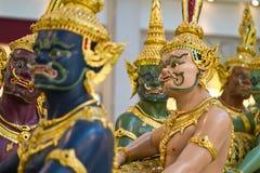 Statues dans l'aéroport de Bangkok Image libre de droits