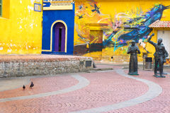 Statues dans la plaza de Carthagène photo stock