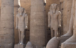 Statues dans le temple de Luxor Photo stock