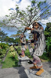 Statues dans Tirta Gangga Image stock