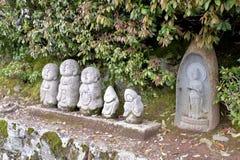 Statues de bhudda du Japon en parc Photographie stock