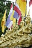 Statues de Bouddha d'or Image libre de droits