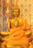 Statues de Bouddha d'or Photographie stock libre de droits