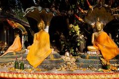 Statues de Bouddha dans Pha qui Luang Image libre de droits