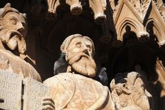 Statues de cathédrale Tarragone, Catalogne, Espagne Photo stock
