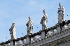Statues de colonnade de Vatican Image libre de droits