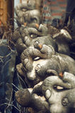 Statues de composition d'éléphants Photographie stock