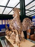 Statues de coq et de canard dans le jardin tropical chez Monte au-dessus de Funchal Madère Image stock