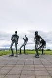 Statues de Dansleikur ou de danse à côté de Perlan, Reykjavik Islande Image stock