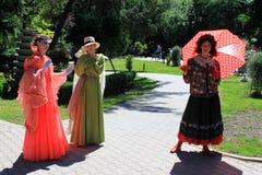 Statues de filles Photos libres de droits