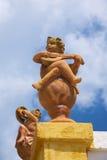 Statues de garçons de musiciens Photographie stock libre de droits
