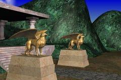 Statues de Gryphons Photo libre de droits