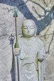 Statues de Jizo au temple de Hase-dera à kamakura Images stock
