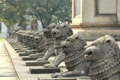 Statues de lion Photographie stock