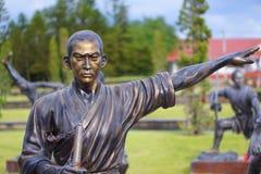 Statues de moine de Chainese Photographie stock