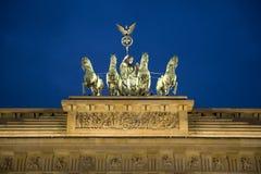 Statues de Porte de Brandebourg Photos stock