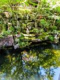 Statues de Rakan dans le  de DaishÅ - dans le temple à Miyajima, Japon Photo libre de droits