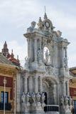 Statues de Séville, Plaza de Espana Photos stock