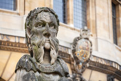 Statues de Sheldonian. Oxford, Angleterre Photo libre de droits