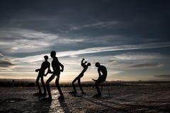 Statues de silhouette Photographie stock libre de droits
