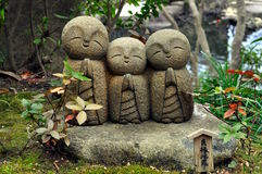 Statues de temple de Hase-dera Photo libre de droits