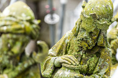 Statues of decorative and fantasy figures royalty free stock photo