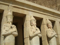 Statues at Deir el-Bahri, Egypt Royalty Free Stock Image