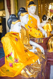 Statues of deities in the Buddhist temple. Royalty Free Stock Photos
