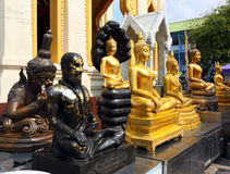 Statues of deities in Thailand Stock Photography