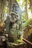Statues and demons, gods and Balinese mythological deities on br Royalty Free Stock Photo