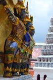 Statues of demons at Wat Phra Kaew. Grand Palace. Bangkok, Thailand Royalty Free Stock Image