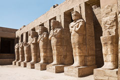 Statues des pharaons Photo libre de droits
