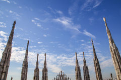 Statues of Dome of Milan Royalty Free Stock Photo
