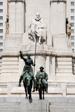 Statues of Don Quixote and Sancho Panza - Madrid - Spain Royalty Free Stock Photos