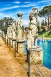 Statues du Caryatides à la villa Adriana, Tivoli, Italie photos libres de droits