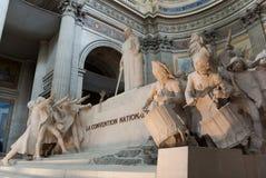 Statues du Panthéon à Paris Images libres de droits