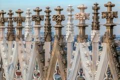 Statues of Duomo di Milano, Italy Stock Photography