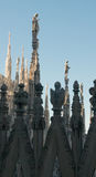 Statues of the Duomo in Milan Stock Photos