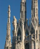 Statues of the Duomo in Milan Stock Images