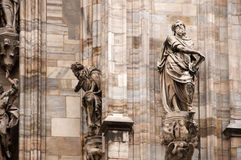 Statues of Duomo Royalty Free Stock Image